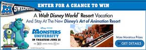 Monsters University Sweepstakes
